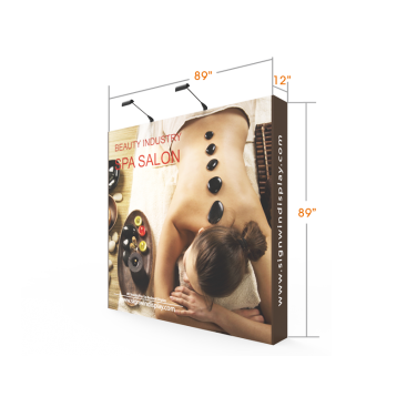 Custom 8ft Straight & Affordable Fabric Pop Up Trade Show Backwall Display (Frame + Graphic)