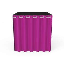 Custom 8x8ft Square Quad Tension Fabric Convertible Private Trade Show Booth Enclosure Display