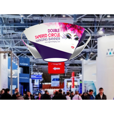 Double Tapered Circular Hanging Banner Custom Graphic for Fairs