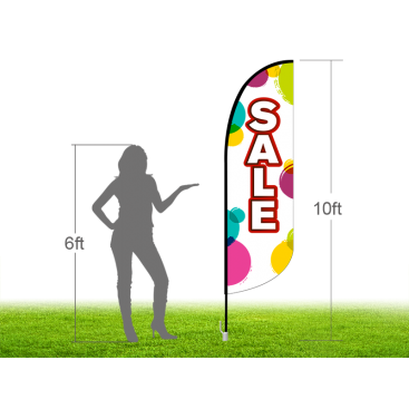 10ft SALE Stock Blade Flag with Ground Stake 02