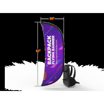 Archy Backpack Walking Flag Banner Custom Design
