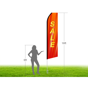 16ft SALE Stock Swooper Flag with Ground Stake 02