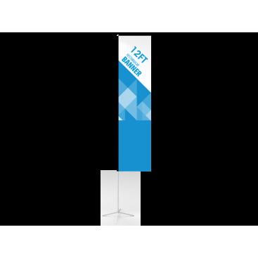 12ft Custom Rectangular Flag with Cross Base & Water Bag