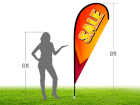 8ft SALE Stock Teardrop Flag with Ground Stake 04