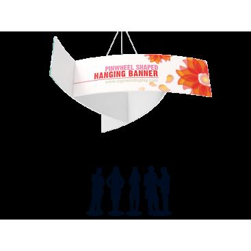 Pinwheel Shaped Hanging Banner Custom Printing For Seminars