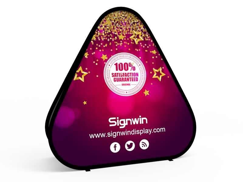 Large Triangular Pop Up A-Frame Banner Stand