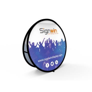 Medium Circular Pop Up A-Frame Banner Stand