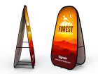 Medium Vertical Pop Up A-Frame Banner Stand