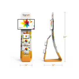 Stylish Monitor/TV, iPad, Tablet & Literature Banner Stand
