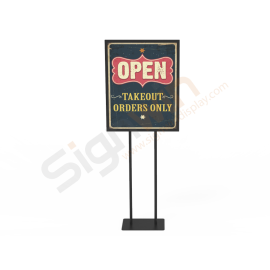 Poster Holder Display Print Stand for Notice & Warning 01
