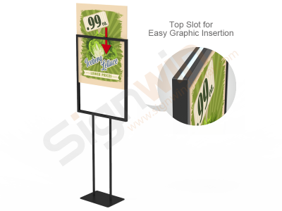 Poster Graphic Print Floor Stand for Promotion Advertising 02