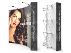 Custom 10ft Curved & Strong Fabric Pop Up Trade Show Backwall Display (Frame + Graphic)