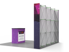 10ft Flat & Foldable Pop Up Backwall Display with Premium Case to Podium