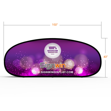 Large Horizontal Pop Up A-Frame Banner Stand