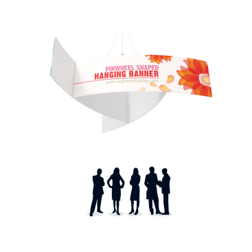 Pinwheel Shaped Hanging Banner Custom Printing For Seminars