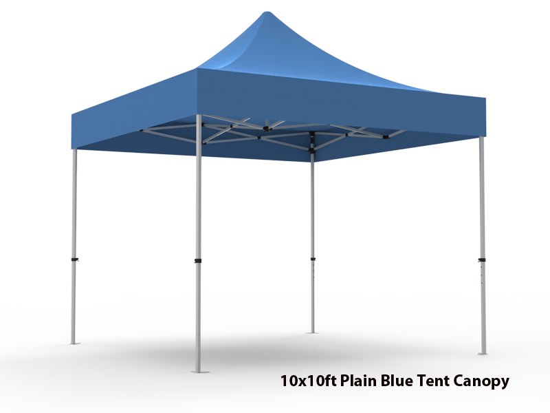 10x10 Unprinted Blue Pop Up Event Tent Canopy