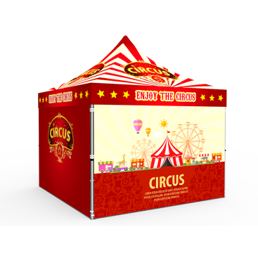 10x10 Custom Pop Up Canopy Tent & 4 x Double-Sided Full Walls