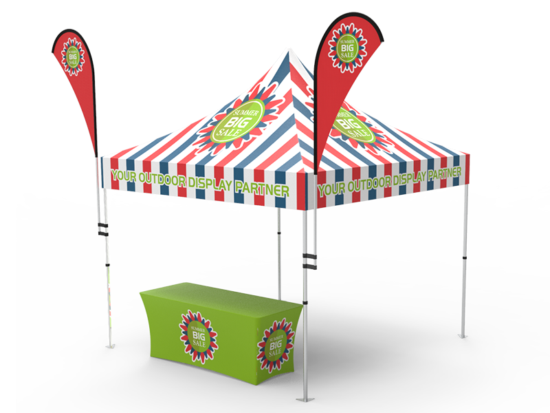 10x10 Custom Pop Up Canopy Tent Combos 13 Signwin