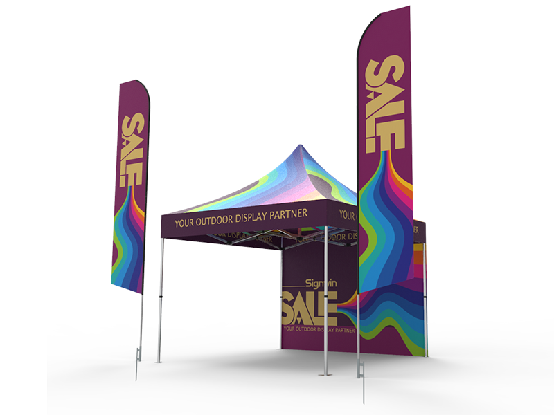 10x10 Custom Pop Up Canopy Tent Combos 19 Signwin