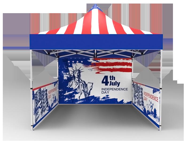 10x10 Custom Pop Up Canopy Tent u0026 Single-Sided Full Backwall u0026 2 x Double  sc 1 st  Signwin & 10x10 Tent u0026 1-Sided Backwall u0026 2 x 2-Sided Half Sidewalls - Signwin