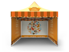 10x10 Custom Pop Up Canopy Tent & Double-Sided Full Backwall & 2 x Double-Sided Full Sidewalls