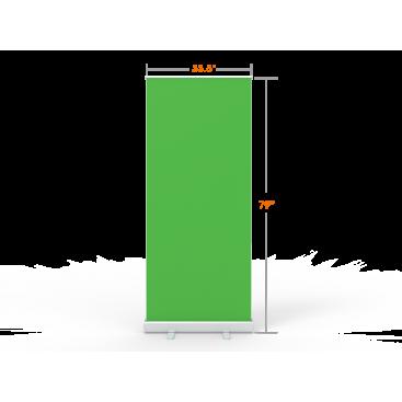 Portable & Retractable Green Screen Video Backdrop for Home Office