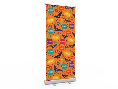 Standard Halloween Retractable Banner Stand with Economic Base 02