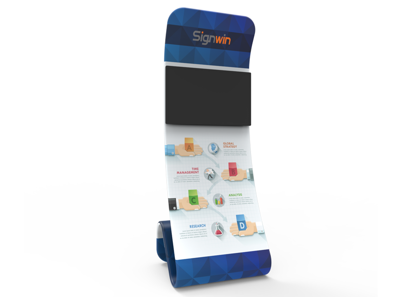 Snakelike Monitor Tension Fabric Banner Stand