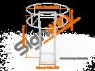Custom Square Quad Trade Show Tower Display with Circular Tube Blimp