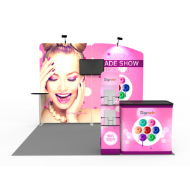 10x10ft Custom Trade Show Booth A