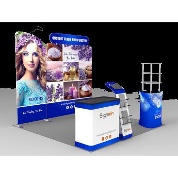 10x10ft Custom Trade Show Booth C