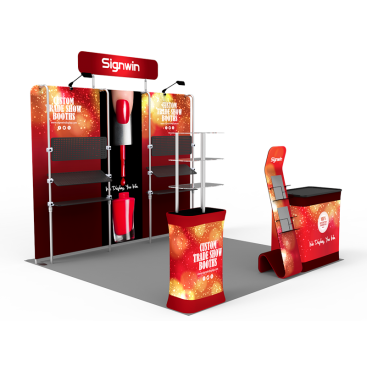 10x10ft Custom Trade Show Booth E