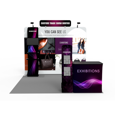 10x10ft Custom Trade Show Booth F