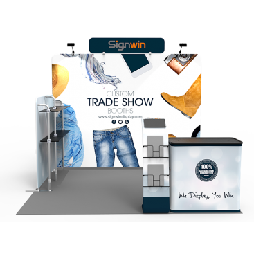10x10ft Custom Trade Show Booth V