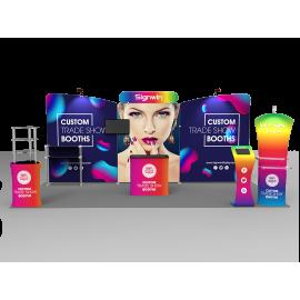 10x20ft Custom Trade Show Booth K