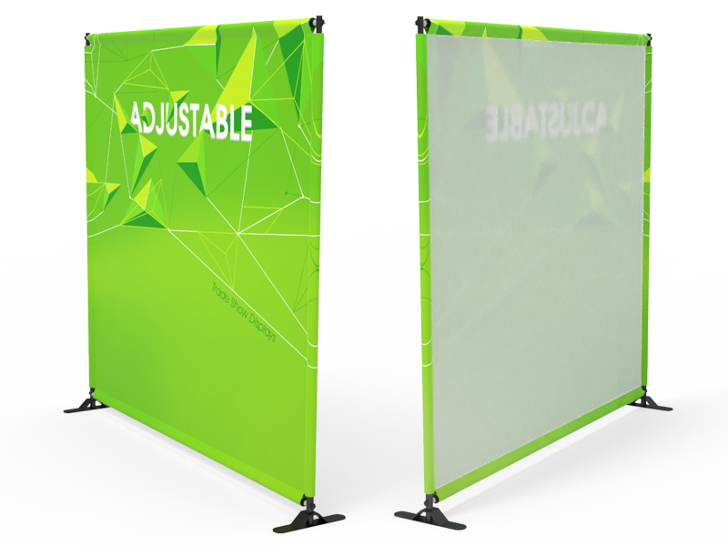 Custom 8ft Adjustable Large Tube Telescopic Tension Fabric Backdrop Banner  Stand Display (Frame + Graphic)