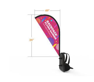 Teardrop Backpack Walking Flag Banner Custom Printing