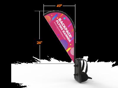 Teardrop Backpack Walking Flag Banner Custom Printing