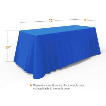 6ft Blue Versatile Loose Table Throw with Round Corners