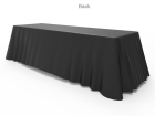 8ft Black Versatile Loose Table Throw with Round Corners