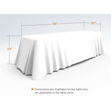 8ft White Versatile Loose Table Throw with Round Corners