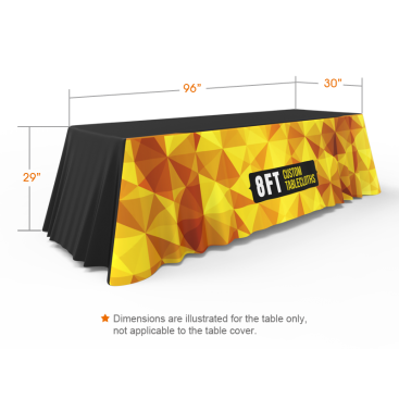 8ft 3-Sided Custom Loose Table Throw with Logo Printing