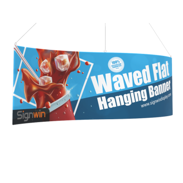 Waved Flat Hanging Banner Logo Printing for Fairs