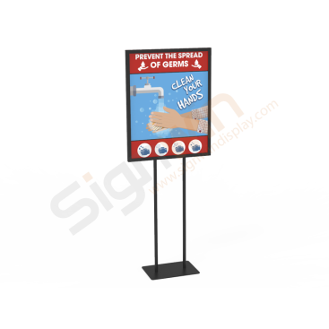 Wash Hands Poster Banner Print Signage Holder Stand 01