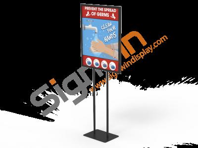 Wash Hands Poster Banner Print Signage Holder Stand 01