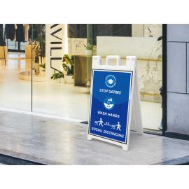 Signicade Standard A Frame Signs Print Signage Wash Hands & Social Distancing 01
