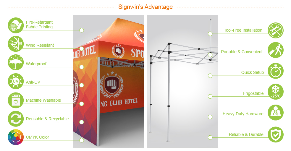 Signwin-10x15 Custom Pop Up Canopy Tent & Double-Sided Full Backwall & 2 x Double-Sided Full Sidewalls_10X15-HL-CT05_Advantage