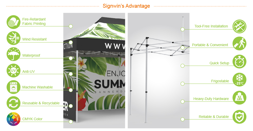 Signwin-10x20 Custom Pop Up Canopy Tent & Double-Sided Full Backwall & 2 x Single-Sided Half Sidewalls_10X20-HL-CT09_Advantage