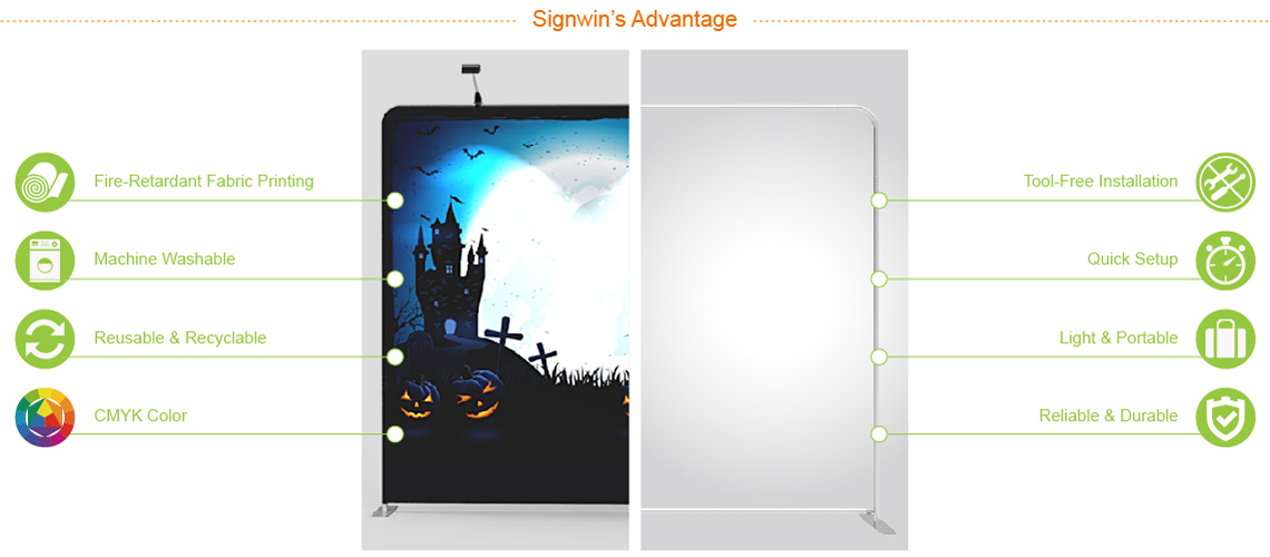 Signwin 8x8 Halloween Flat Tension Fabric Backdrop Banner Stand 01 Advantage