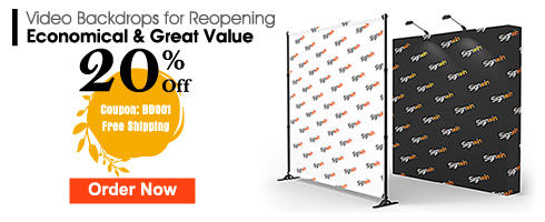 Signwin 20% Off Video Backdrops for Reopening Economical & Great Value